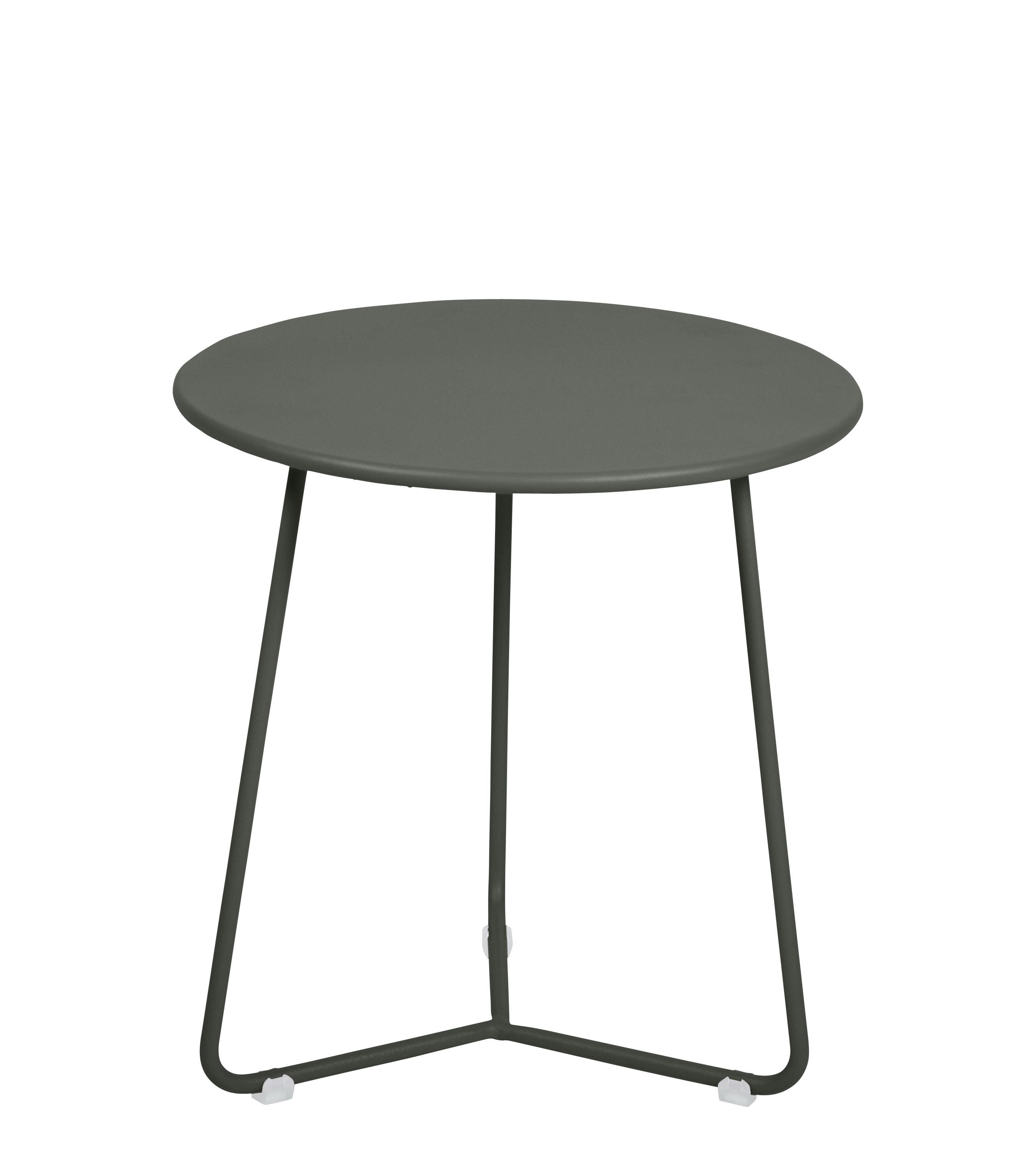 Mobilier - Tables basses - Table d'appoint Cocotte / Tabouret - Ø 34 x H 36 cm - Fermob - Romarin - Acier peint