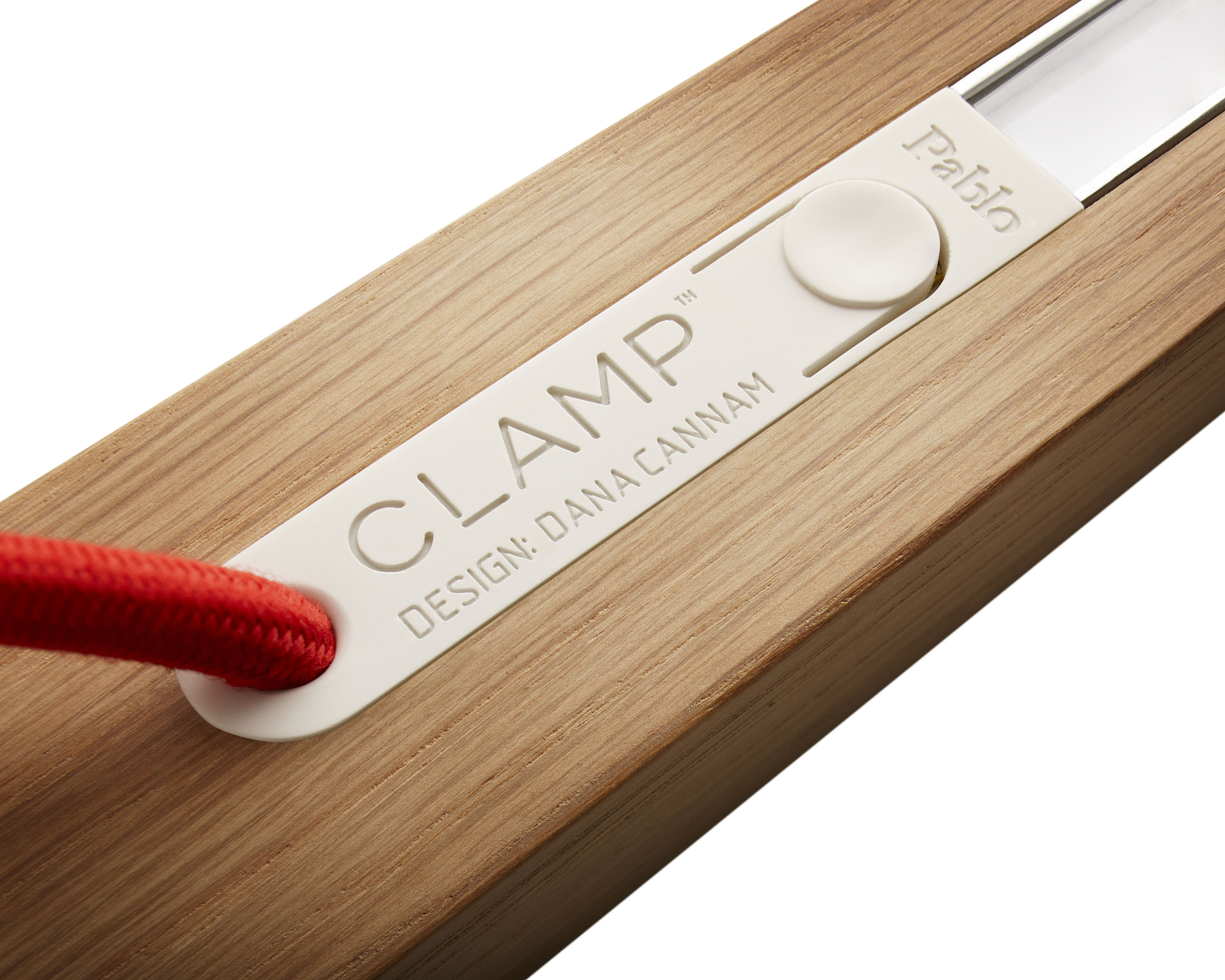 Clamp table lamp led vice base whitened oak by design house