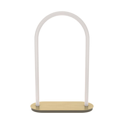 Lighting - Table Lamps - Unseen LED Table lamp - / Large - H 60 cm by Petite Friture - H 60 cm / White & brass - Brass, Polycarbonate