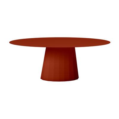 Table ovale Ankara INDOOR / 200 x 100 cm - Acier - Matière Grise rouge/orange/marron en métal