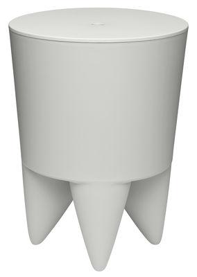 Mobilier - Tabourets bas - Tabouret New Bubu 1er / Coffre - Plastique - XO - Gris pâle - Polypropylène