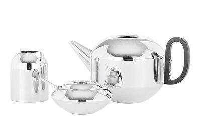 Tischkultur - Tee und Kaffee - Form Teekanne / + Zuckerdose & Milchkännchen - Tom Dixon - Edelstahl, poliert - Nylon, polierter rostfreier Stahl