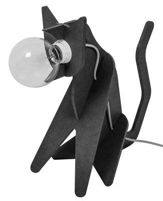 Leuchten - Tischleuchten - Get out / Chat Tischleuchte - ENOstudio - Schwarz - rotes Stromkabel - Medium teinté