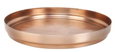 Tableware - Trays - Rondo Tray - Ø 45,5 cm by XL Boom - Ø 45,5 cm - Copper - Stainless steel