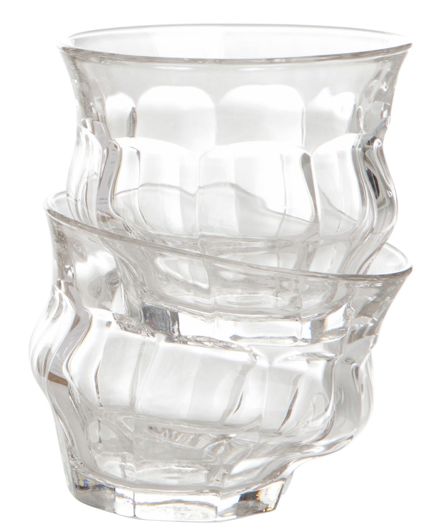 Arts de la table - Verres  - Verre Tipsy / Autour de Duralex© - Set de 2 - Loris&Livia - Pop Corn - Set de 2 - Transparent - Verre
