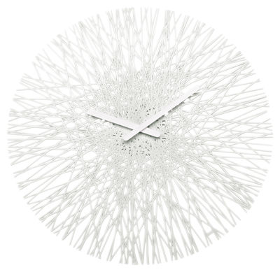 Decoration - Wall Clocks - Silk Wall clock by Koziol - White - Polycarbonate