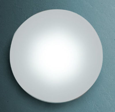 Lighting - Wall Lights - Sole Wall light - Ceiling light - 144 LED - Round by Fontana Arte - White - Corian, Glass