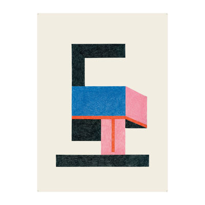 Déco - Stickers, papiers peints & posters - Affiche Nathalie du Pasquier - Froid / 47,5 x 67,5 cm - The Wrong Shop - Sans cadre - Papier premium