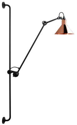 Applique avec prise N°214 / Lampe Gras - DCW éditions cuivre,noir en métal