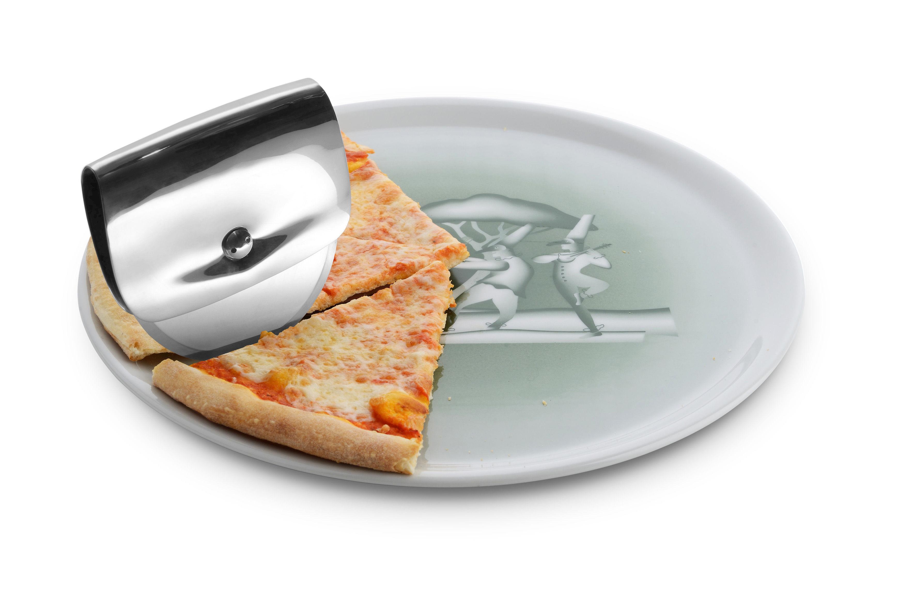 assiette pizza vivanapoli a di alessi marron bleu 32 made in design. Black Bedroom Furniture Sets. Home Design Ideas