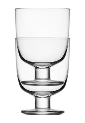 Tavola - Bicchieri  - Bicchiere Lempi / Set da 2 - 34 cl - Iittala - Trasparente - vetro soffiato