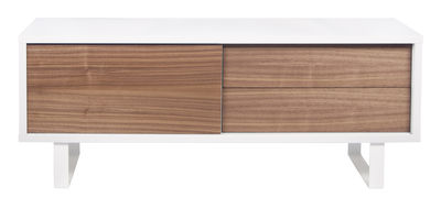 Buffet Oslo / L 150 cm - POP UP HOME blanc,noyer en bois