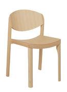 Chaise empilable Mauro Bois Established Sons frêne en bois