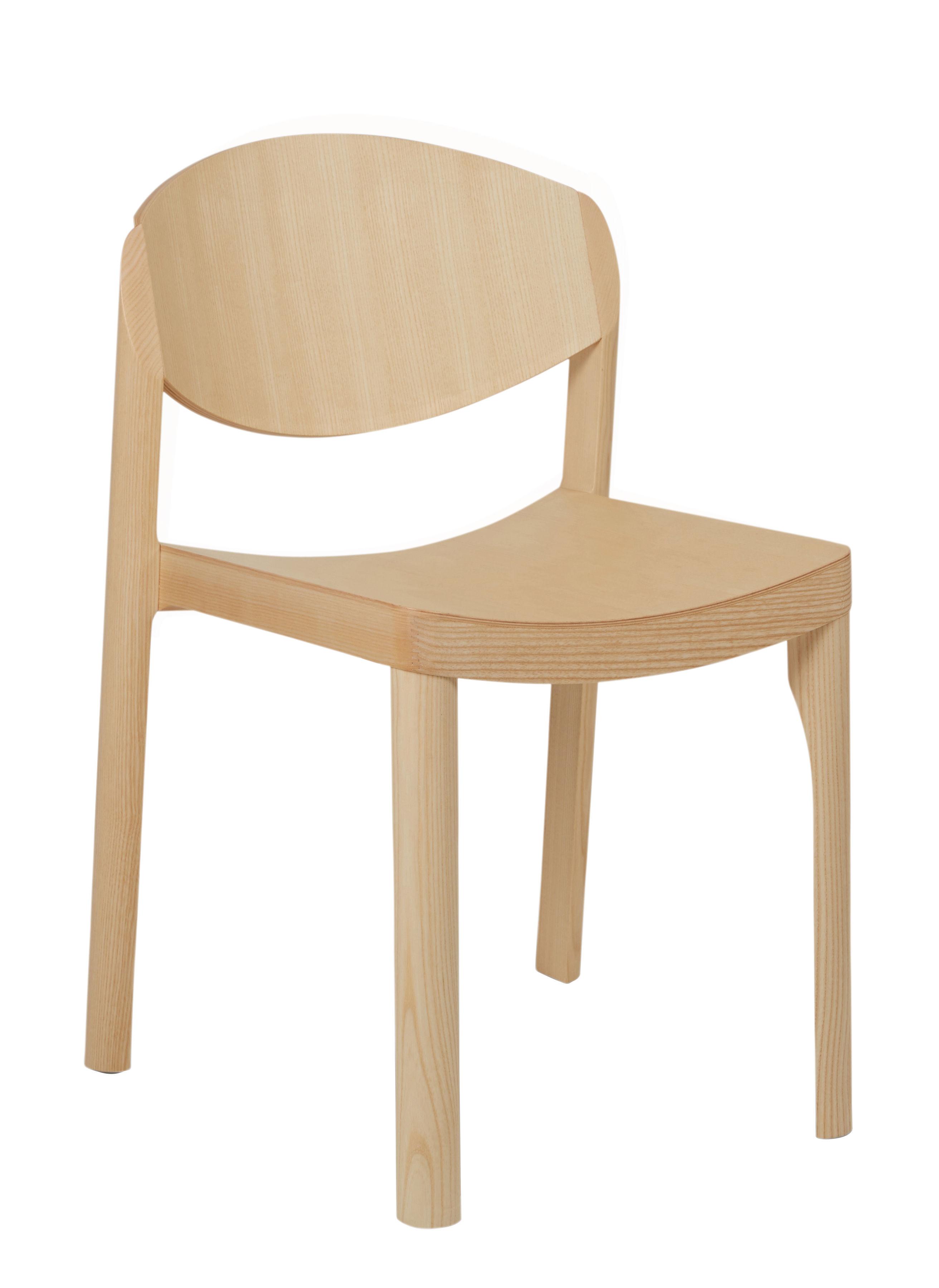 Mobilier - Chaises, fauteuils de salle à manger - Chaise empilable Mauro / Bois - Established & Sons - Frêne - Frêne massif