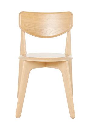 Mobilier - Chaises, fauteuils de salle à manger - Chaise empilable Slab / Chêne - Tom Dixon - Chêne - Chêne massif naturel