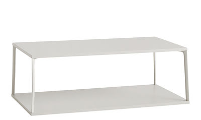 Furniture - Coffee Tables - Eiffel Coffee table - / Rectangular - L 110 x H 38 cm by Hay - Sand - Lacquered aluminium, Lacquered MDF