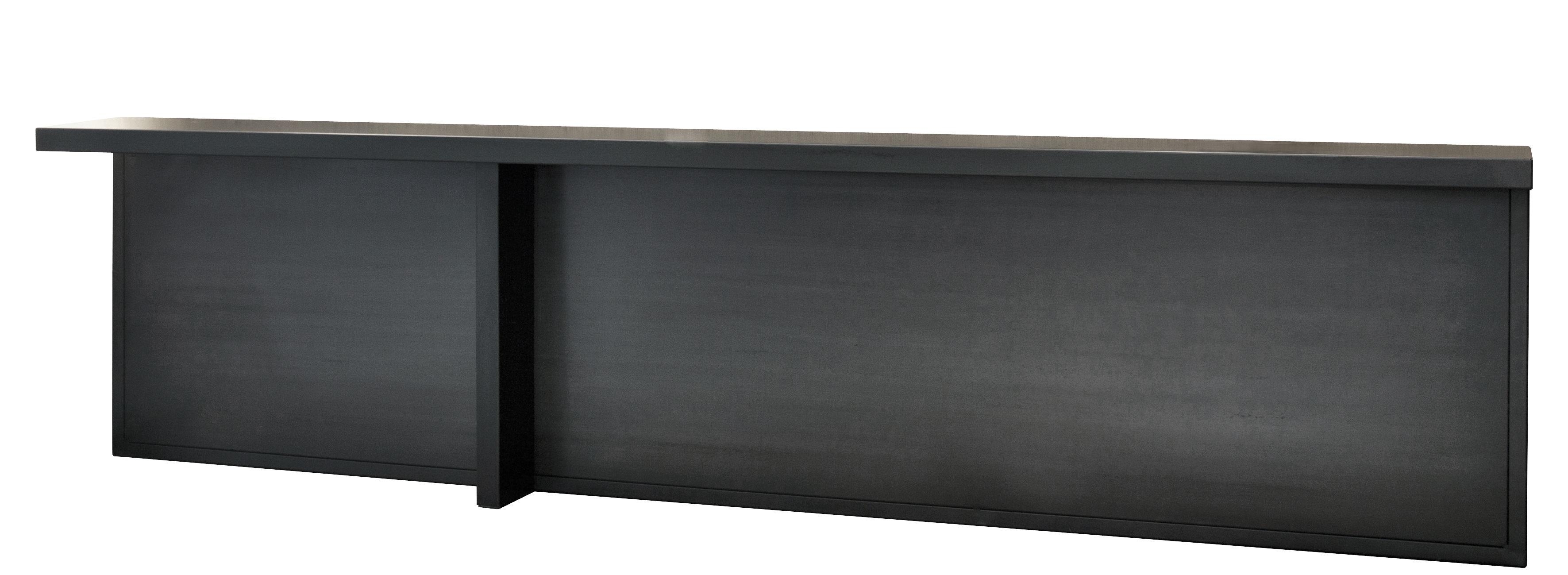 Mobilier - Consoles - Console Atrium / Métal - L 283 x P 30 cm - Zeus - Métal noir - Acier phosphaté
