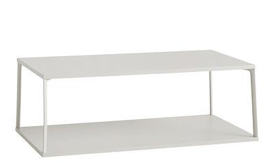 Möbel - Couchtische - Eiffel Couchtisch / rechteckig - L 110 cm x H 38 cm - Hay - Sandfarben - lackierte Holzfaserplatte, lackiertes Aluminium