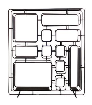 Mobilier - Etagères & bibliothèques - Etagère Project Q. / Métal - L 76 x H 86 cm - XL Boom - Noir - Fer peint