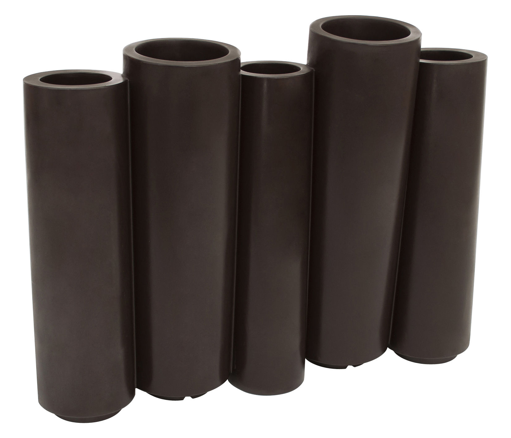 Outdoor - Vasi e Piante - Fioriera Bamboo - / L 100 x H 80 cm di Slide - Cioccolato - Polietilene