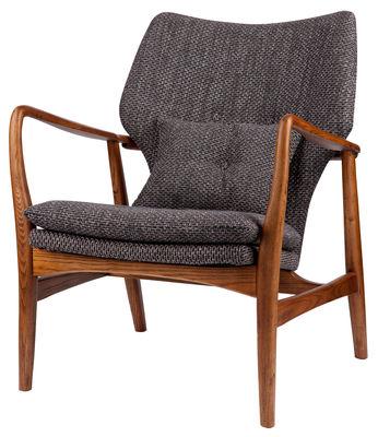 Möbel - Lounge Sessel - Peggy Gepolsterter Sessel - Pols Potten - Grau / Holz natur - Gewebe, lackierte Esche, Schaumstoff