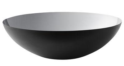 Tavola - Ciotole - Insalatiera Krenit / Ø 38 x H 12 cm - Acciaio - Normann Copenhagen - Nero / Interno argento - Acciaio smaltato