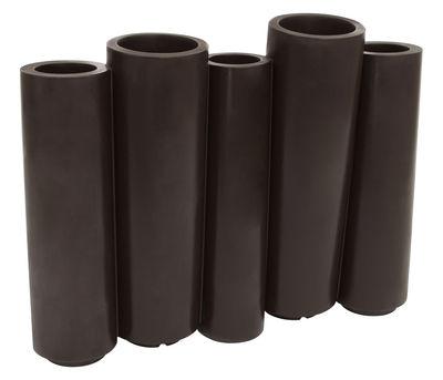 Jardinière Bamboo / L 100 x H 80 cm - Slide chocolat en matière plastique