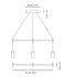 Kit d'assemblage Triana / Pour créer une suspension Triple linéaire - Carpyen