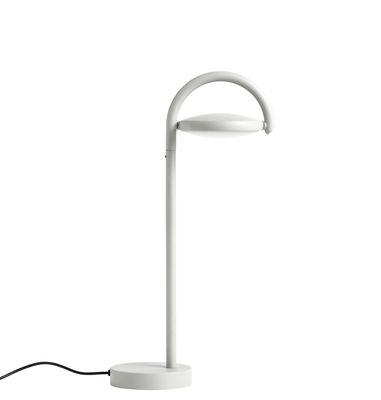Illuminazione - Lampade da tavolo - Lampada da tavolo Marselis - / Diffusore orientabile - H 38 cm di Hay - Grigio cenere - Acciaio, Alluminio, Fonte de sable, Nylon, policarbonato