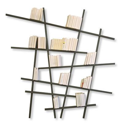 Arredamento - Scaffali e librerie - Libreria Mikado Large - colorata - Modello grande di Compagnie - Grigio - Faggio laccato