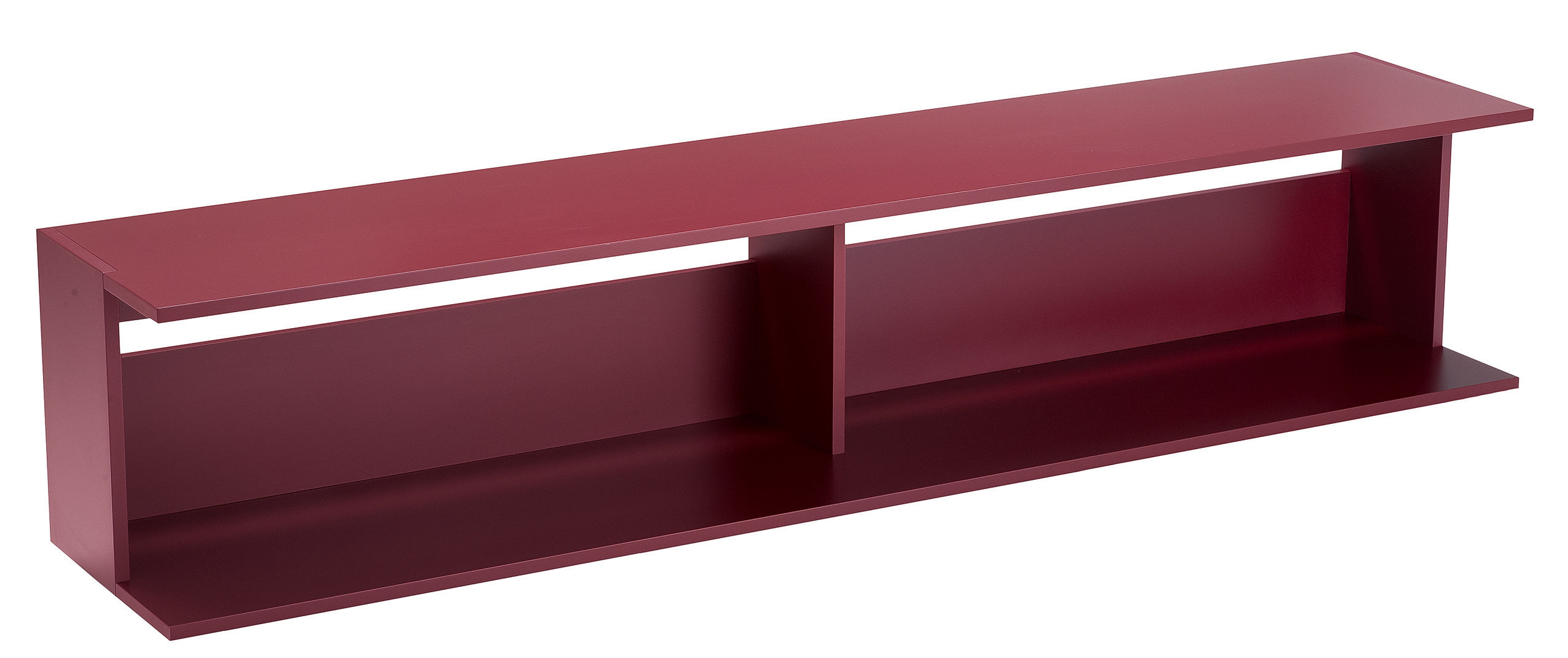 Furniture - Console Tables - Scott Low console by Zanotta - Burgundy - Varnished MDF