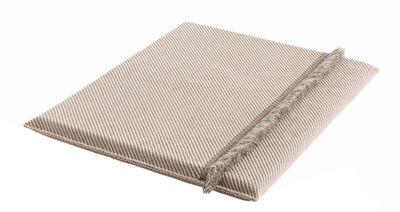 Furniture - Poufs & Floor Cushions - Garden Layers Mattress - / Wide - Handwoven by Gan - Diagonals / Almond & ivory - Caoutchouc mousse, Polypropylene