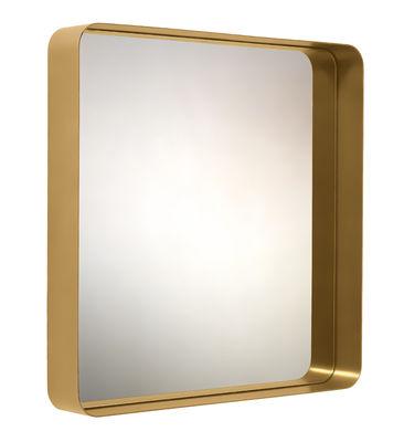 Déco - Miroirs - Miroir mural Cypris / 70 x 70 cm - Laiton - ClassiCon - Or / Miroir argent - Laiton masif, Verre