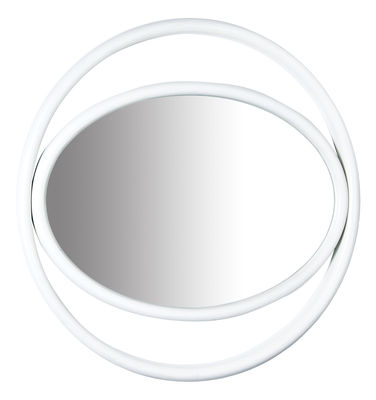 Miroir mural Eyeshine Ø 64 cm - Bois cintré - Wiener GTV Design blanc en bois