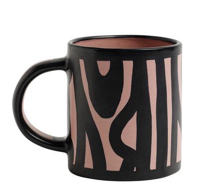Mug Wood / Peint à la main - Hay rose en céramique