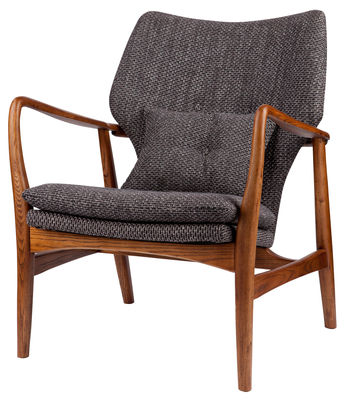 Furniture - Armchairs - Peggy Padded armchair by Pols Potten -  - Fabric, Foam, Varnished ashwood