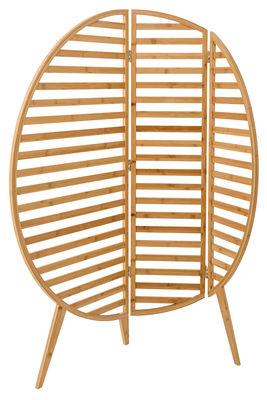 Arredamento - Separè, Paraventi... - Paravento Bamboo / L 120 x H 130 cm - Bloomingville - Bambou naturel - Legno di bambù