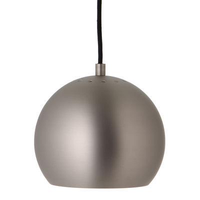 Lighting - Pendant Lighting - Ball Pendant - / Ø 18 cm - 1968 reissue by Frandsen - Matt brushed satin - Varnished metal