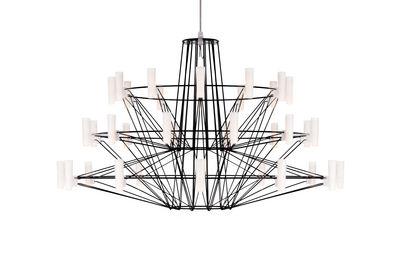 Leuchten - Pendelleuchten - Coppélia Small Pendelleuchte / LED - Ø 68 x H 42 cm - Moooi - Schwarz - lackierter Edelstahl u. Opalpolycarbonat