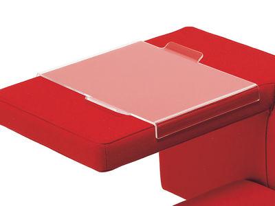 Plateau pour fauteuil solitaire - Offecct transparent en matière plastique
