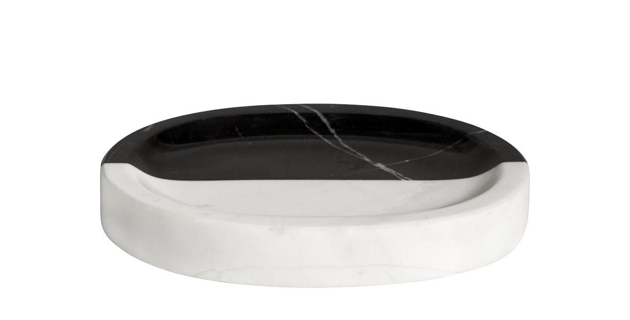 Accessori moda - Accessori bagno - Portasapone Canaan - / Marmo di Jonathan Adler - Nero & bianco - Marmo