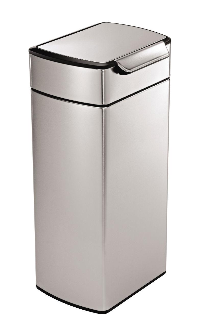 Cuisine - Poubelles de cuisine - Poubelle Touch-bar / 30L - Simple Human - Acier - 30 litres - Acier inoxydable, Polypropylène