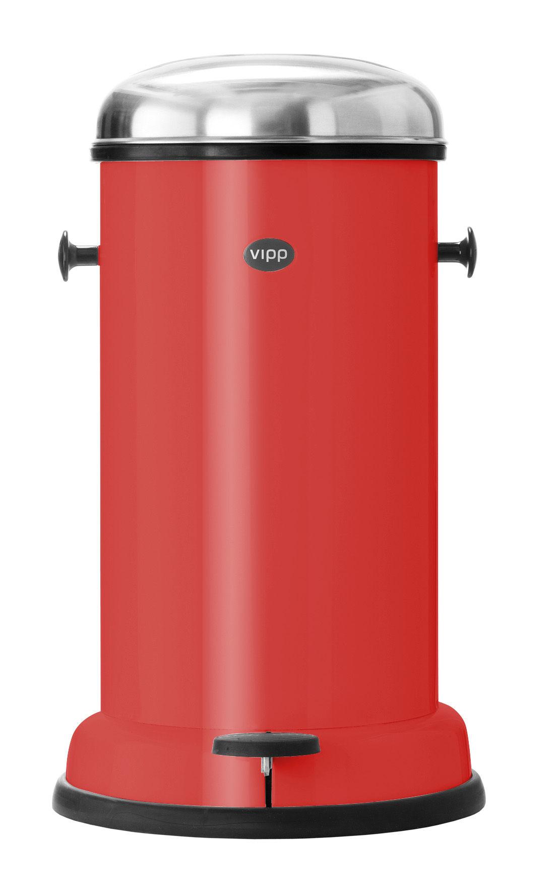Poubelle Vipp poubelle vipp15 - rising red / 14 litres rouge orangé - vipp | made