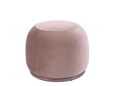Image of Pouf Bonbon - / Small - Ø 55 cm di Bolia - Rosa - Metallo