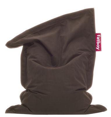 Pouf Junior Stonewashed / Pour enfant - Fatboy Larg 100 x L 130 cm marron en tissu