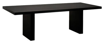 Natale - Vintage - Tommaso Rectangular table - Steel version by Zeus - 180 x 90 cm - Black - Phosphated steel