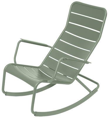 Mobilier - Fauteuils - Rocking chair Luxembourg / Aluminium - Fermob - Cactus - Aluminium laqué