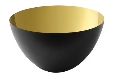 Tableware - Bowls - Krenit Salad bowl - Ø 25 x H 14 cm - Acier by Normann Copenhagen - Black / Gold - Enamelled steel