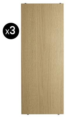 Arredamento - Scaffali e librerie - Scaffale String System - / L 78 cm - Set da 3 di String Furniture - Rovere - Compensato di rovere