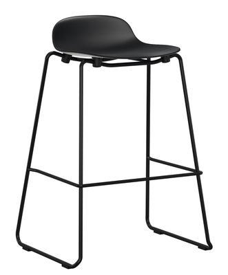 Arredamento - Sgabelli da bar  - Sgabello bar Form - impilabile / Piede metallo - H 75 cm di Normann Copenhagen - Nero - Acciaio laccato, Polipropilene